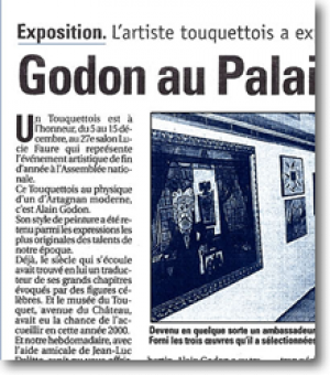 The artist from Le Touquet exhibits...