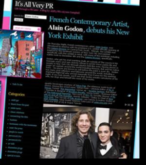 Alain Godon, debuts his New York exhibit