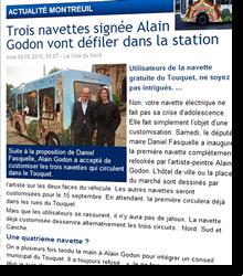 Trois navettes signées Alain Godon