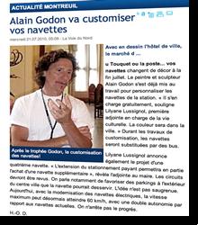Alain Godon va customiser vos navettes