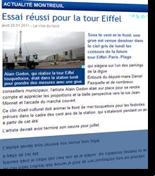 Essai réussi pour la tour Eiffel