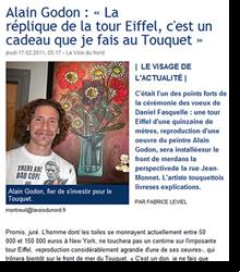 La réplique de la tour Eiffel...