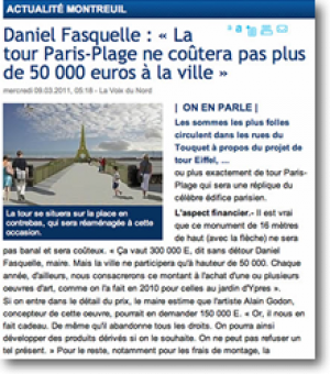 The Paris-Plage tower will...