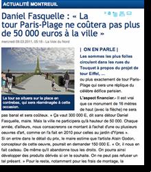La tour Paris-Plage ne coûtera...
