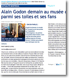 Alain Godon demain au musée...
