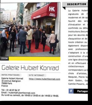 A la galerie Hubert Konrad