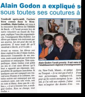 Alain Godon a explique son œuvre...
