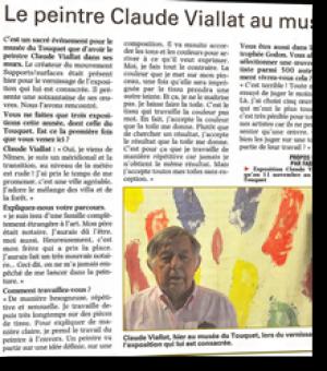 Le peintre Claude Viallat au musée