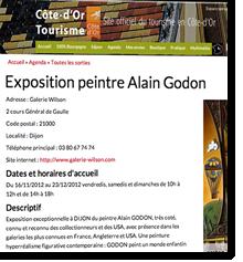 Exposition du peintre Alain Godon