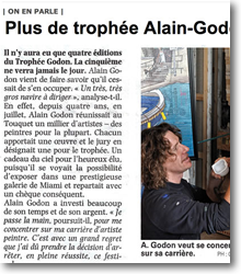 Plus de trophée Alain Godon...