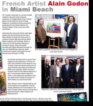 Alain Godon artiste français à Miami Beach